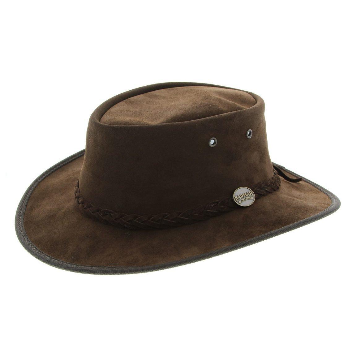 753278b97 Barmah 1061 CH Foldaway Suede Leather Hat - Choc